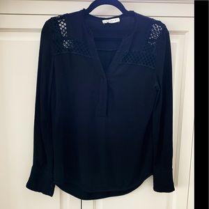 Sandro Paris black shirt with lace